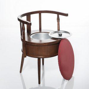 Sillón inodoro con asiento tapizado